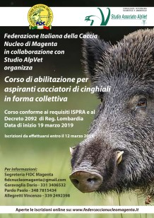 Locandina Corso Cinghiali Magenta 2019_a